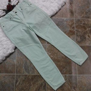 J Crew Skinny Cord Jeans Size 29 Ankle Mint Blue